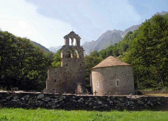 The Knights Templar Chapel & hospital near Port de Bielsa, D118