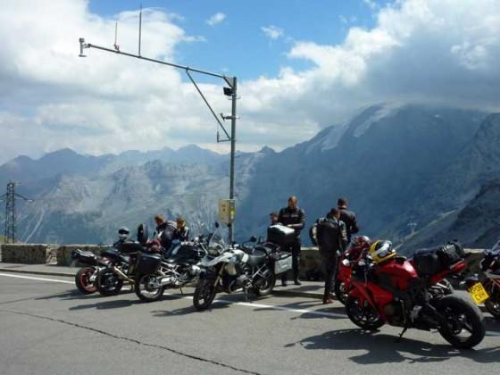The TwistyRide lads. 2012 Euro Tour - The Stelvio Pass