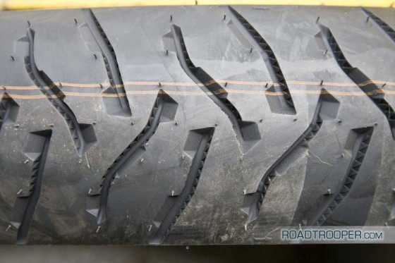 Michelin Anakee 3 back tyre looks a bit mad, but so did the Pilot Road 3!