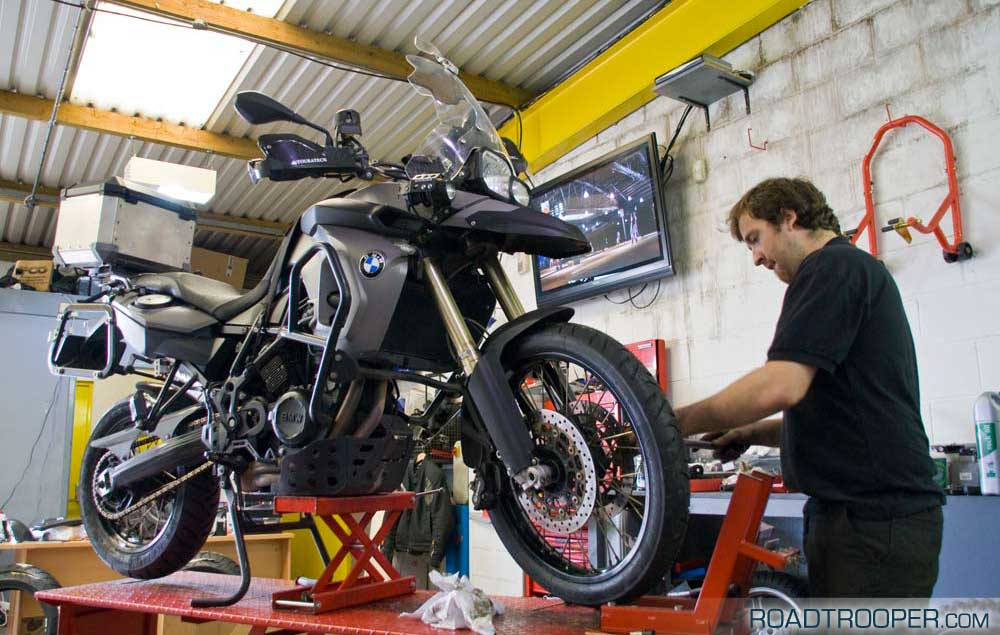 New rubber for the F800GS…