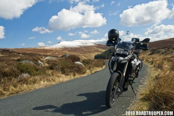 F800GS with Metzler Tourance tyres in the Dublin Mountains