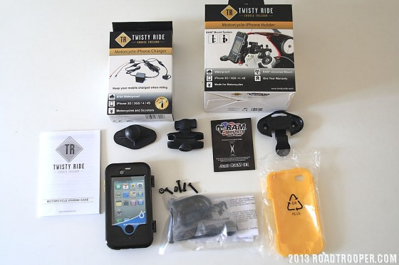 TwistyRide's iPhone Holder Package Contents